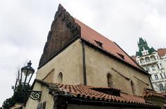 Old New Synagogue in Jewish quarter in Prague, Czech republic Stock Photos