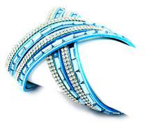 Modern bracelet - stock photo