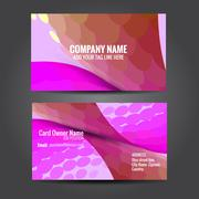 Attractive business card template Stock Illustration