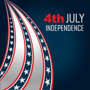 4th of july independenece Stock Illustration