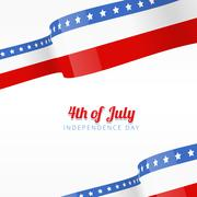 Vector american independence day background Stock Illustration