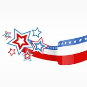 Stock Illustration of vector american flag design
