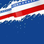 Abstract american flag background Piirros
