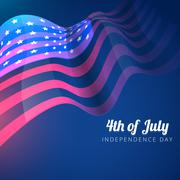 American flag 4th of july background Stock Illustration