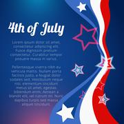 Vector 4th of july design Stock Illustration