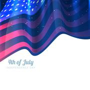 Stylish 4th of july background Stock Illustration
