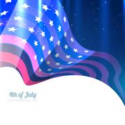 american 4th of july - stock illustration