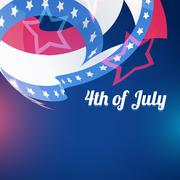 abstract 4th of july - stock illustration
