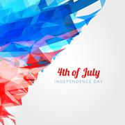 american 4th of july background - stock illustration