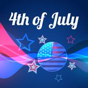 Abstract vector 4th of july Stock Illustration