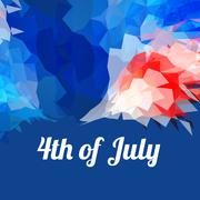 American 4th of july background Stock Illustration