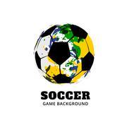 brazil football soccer design - stock illustration