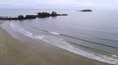 Waves And Beach In Tofino Stock Footage