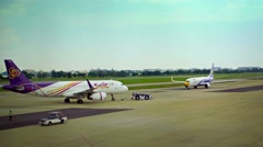 Support Operations at Don Mueang International Airport in Bangkok, Thailand Stock Footage