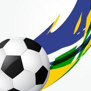 Abstract football game Piirros