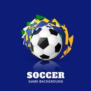 soccer game design - stock illustration