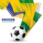 abstract soccer game - stock illustration