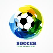 abstract soccer game design - stock illustration
