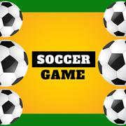 Vector soccer game Stock Illustration