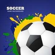 soccer game design vector - stock illustration