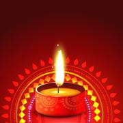 creative diwali diya background - stock illustration