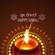 Artistic diwali background Stock Illustration