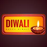 Stock Illustration of stylish happy diwali  background