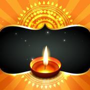 Stylish happy diwali  background Stock Illustration
