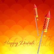 Stylish background of diwali - stock illustration