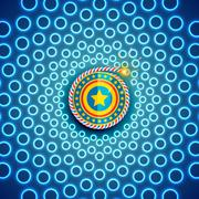 Beautiful background of diwali - stock illustration