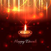 Artistic design of diwali diya Stock Illustration
