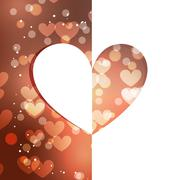 beautiful heart background - stock illustration