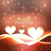 beautiful valentine day background - stock illustration