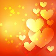 Stock Illustration of beautiful heart background with bokeh effect