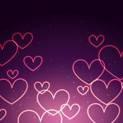 attractive background of hearts - stock illustration