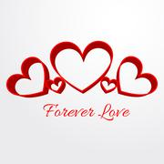 forever love background - stock illustration