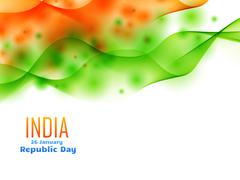 Indian republic day design celebrated on 26 january made with wave Stock Illustration