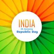 Beautiful indian flag design for 26th january Stock Illustration