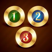 golden ranking number one two three vector - stock illustration