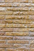 brick wall interior decorated wallpaper of house - stock photo
