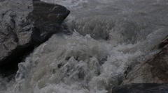 Rough mountain river in Caucasus Stock Footage