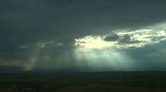 Crepuscular Rays Stock Footage