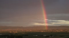 Morning Rainbow Stock Footage