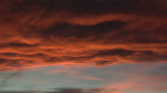 Red Skies at Sunset Stock Footage