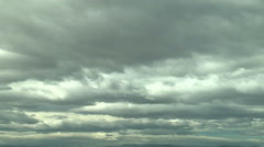 Stratocumulus - dramatic moody sky Stock Footage