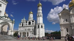 The Ivan the Great Bell Tower & the Assumption Belfry, Kremlin, Moscow, Russia. Stock Footage