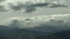 Winter Mountain Storm Stock Footage