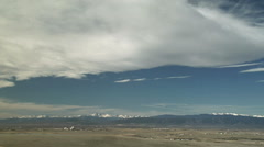 Banner Clouds Lee of Rockies Stock Footage