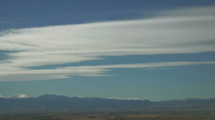 Lenticulars on a blue sky - stock footage