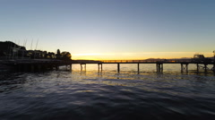 Harbour Sunset Flythrough - stock footage